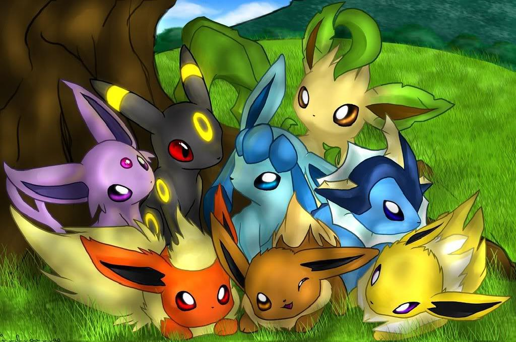 Pokemon Eevee Evolutions Wallpaper   1024x679
