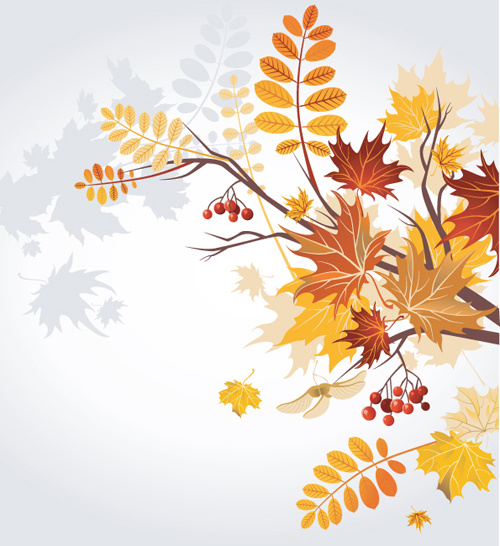 Red Orange Fall Leaves Background Border Royalty Free Stock 500x546
