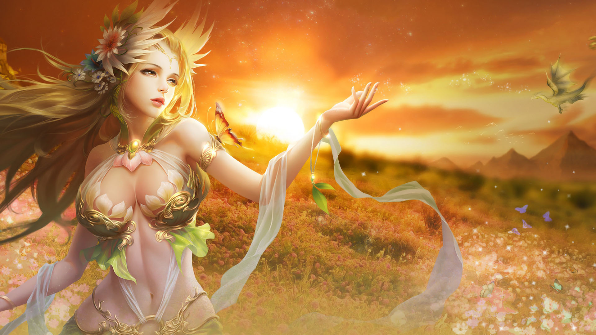 Fantasy girl hd wallpapers wallpaperscharlie 1920x1080 voltagebd