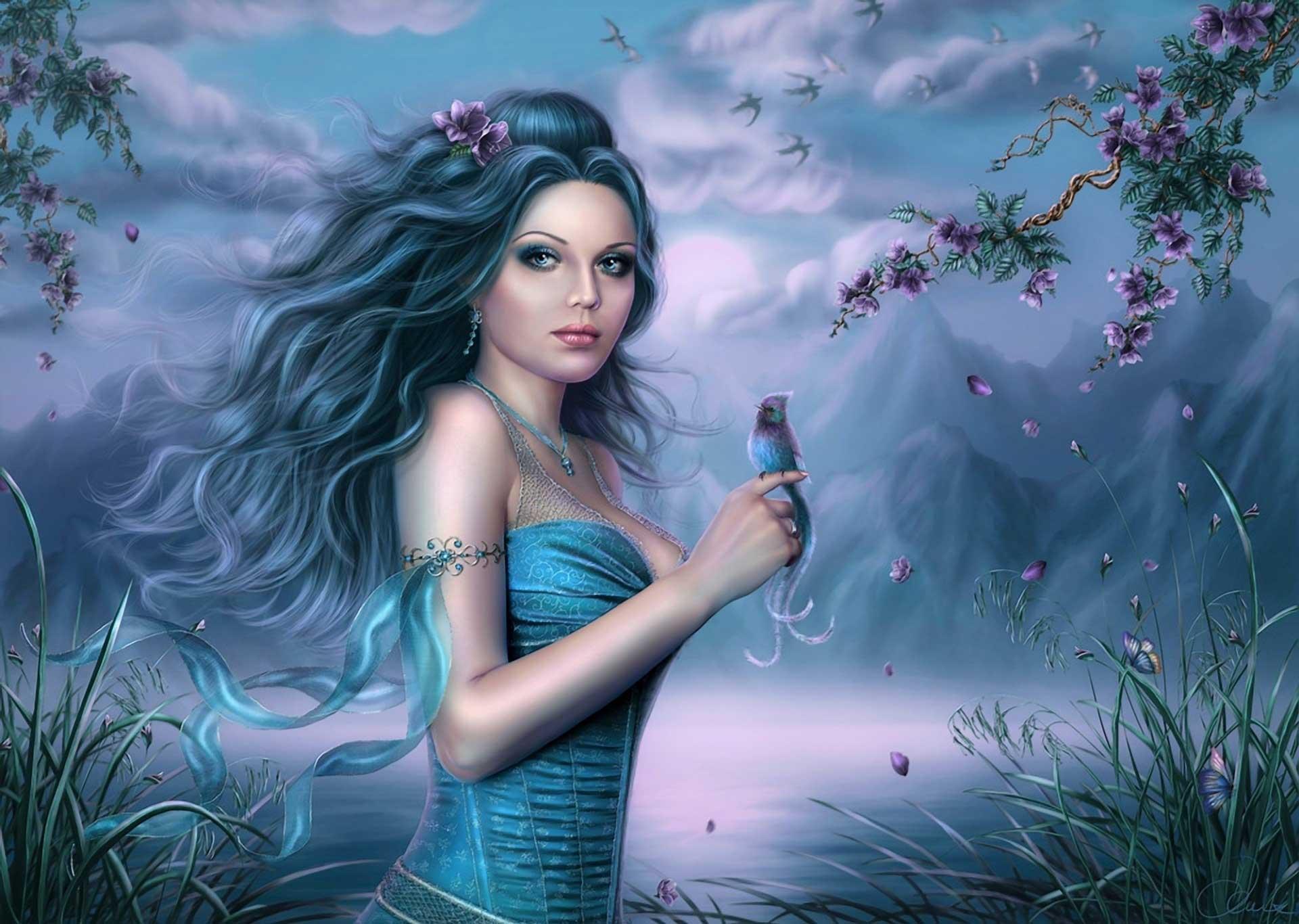 fantasy girl hd desktop wallpaper : widescreen : high definition
