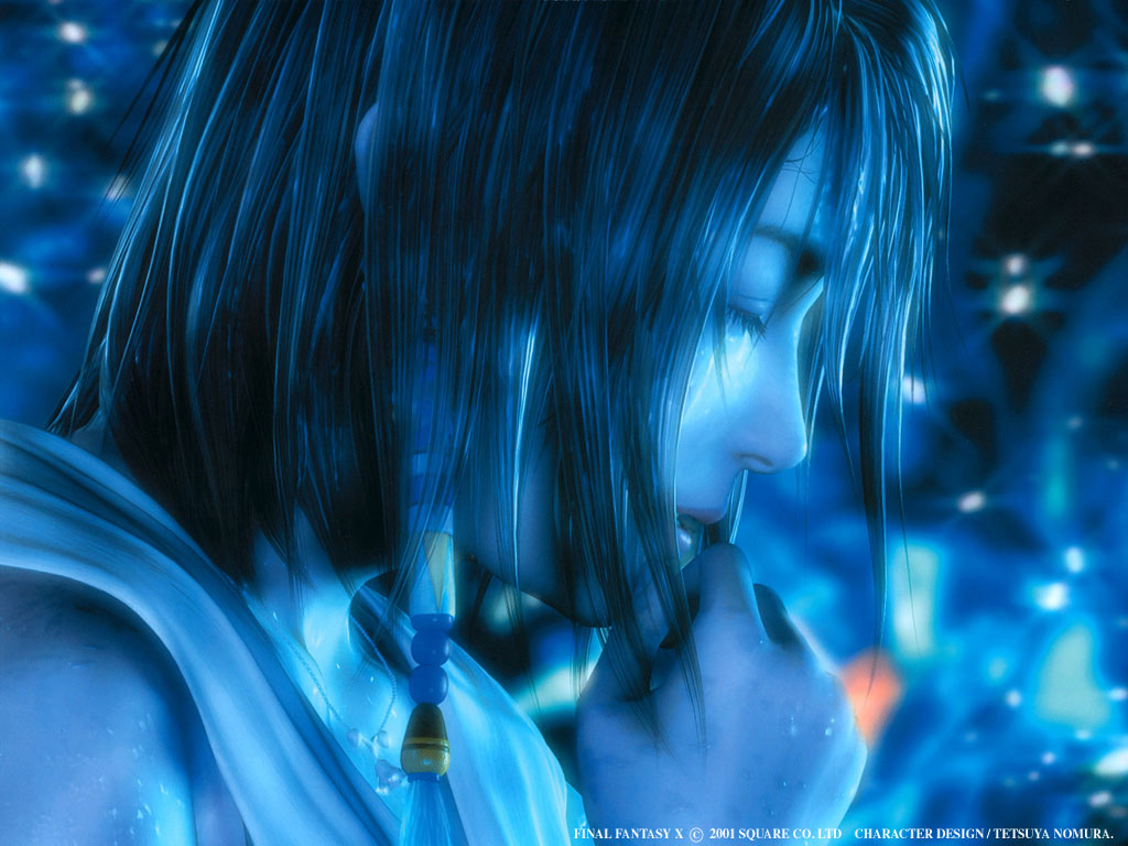 Final Fantasy X Wallpaper with speedpaint by