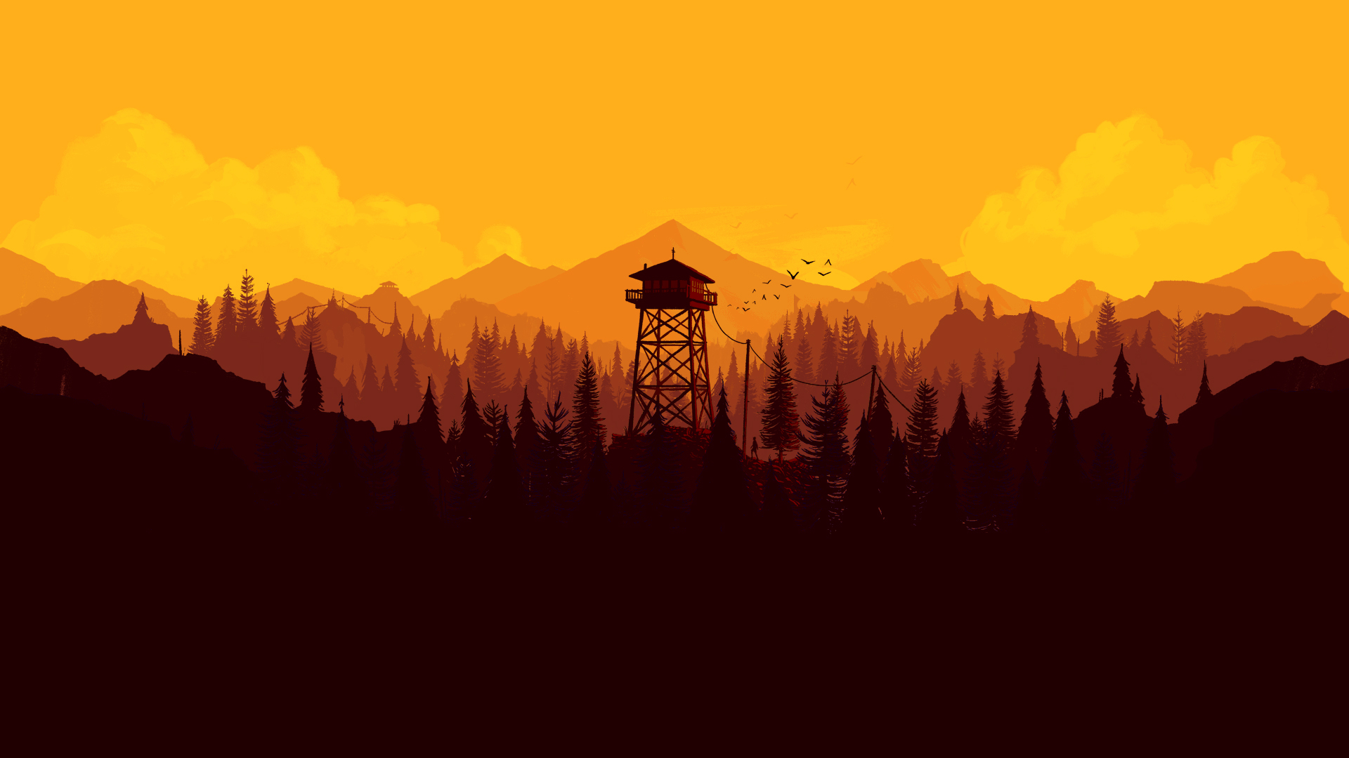 Firewatch Wallpaper For Iphone And Desktop 1920x1080