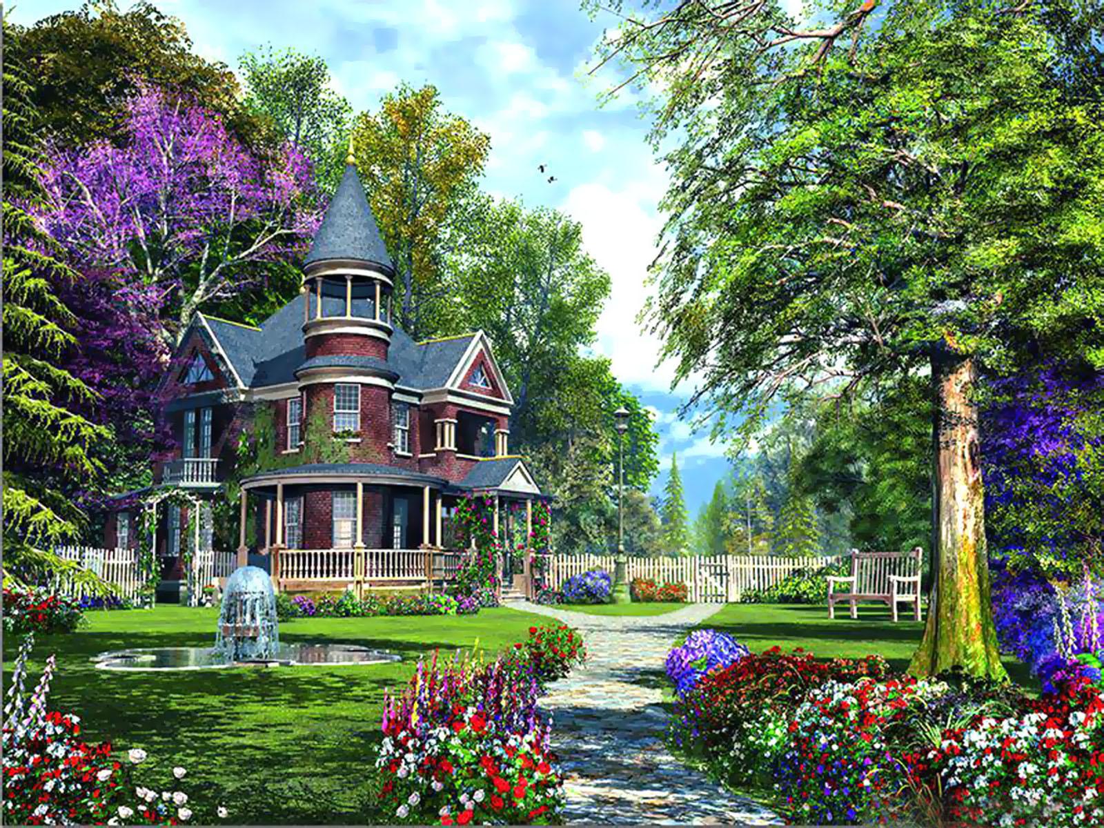 hd flower garden wallpaper 1600x1200 - Flower Garden Wallpaper
