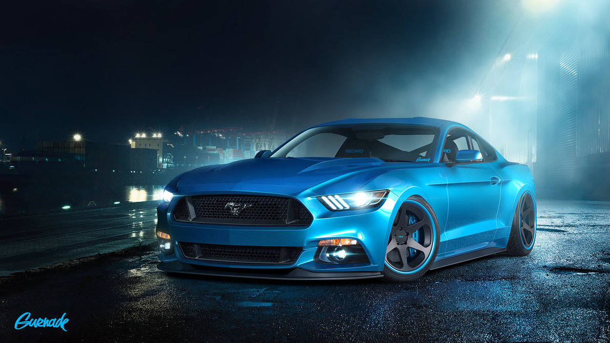 Blue Ford Mustang Shelby GT Car Picture HD Wallpaper  ad 1191x670