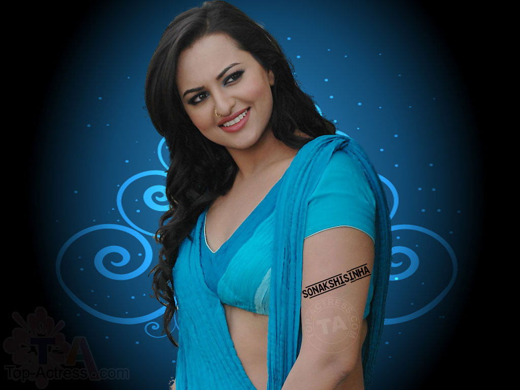 South Indian Actress Wallpapers In Hd Sonakshi Sinha In Saree Hd