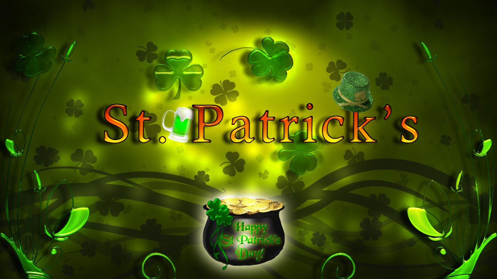 St Patrick Day Wallpapers Shamrocks Group 1600x900
