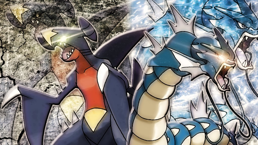 garchomp wallpapers, backgrounds and pictures 1024x576