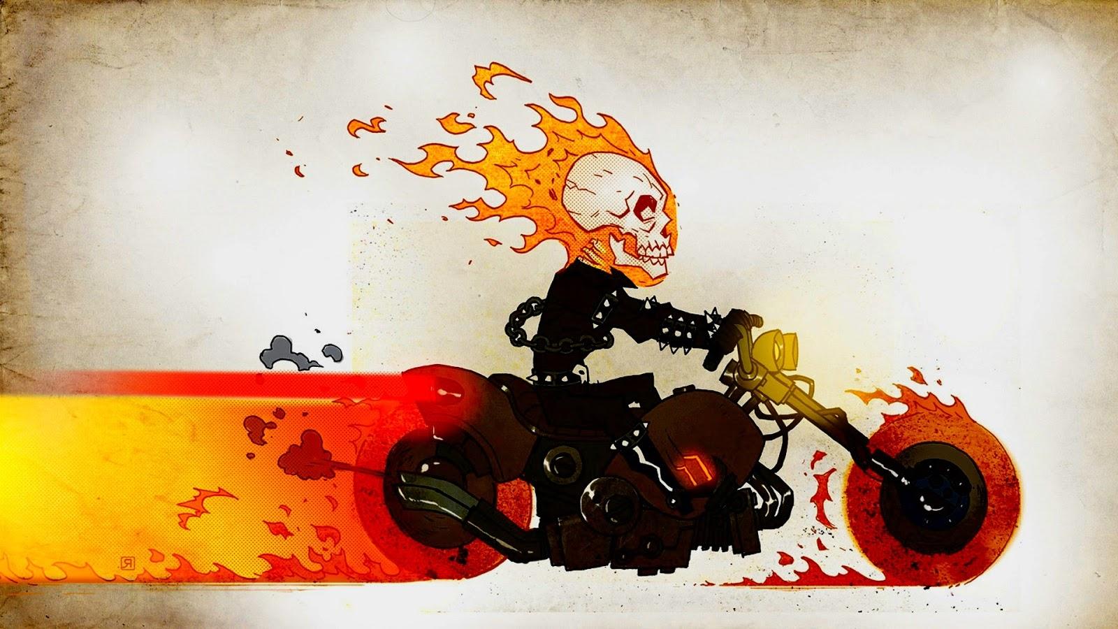 Ghost Rider Skull Wallpaper 1600x900