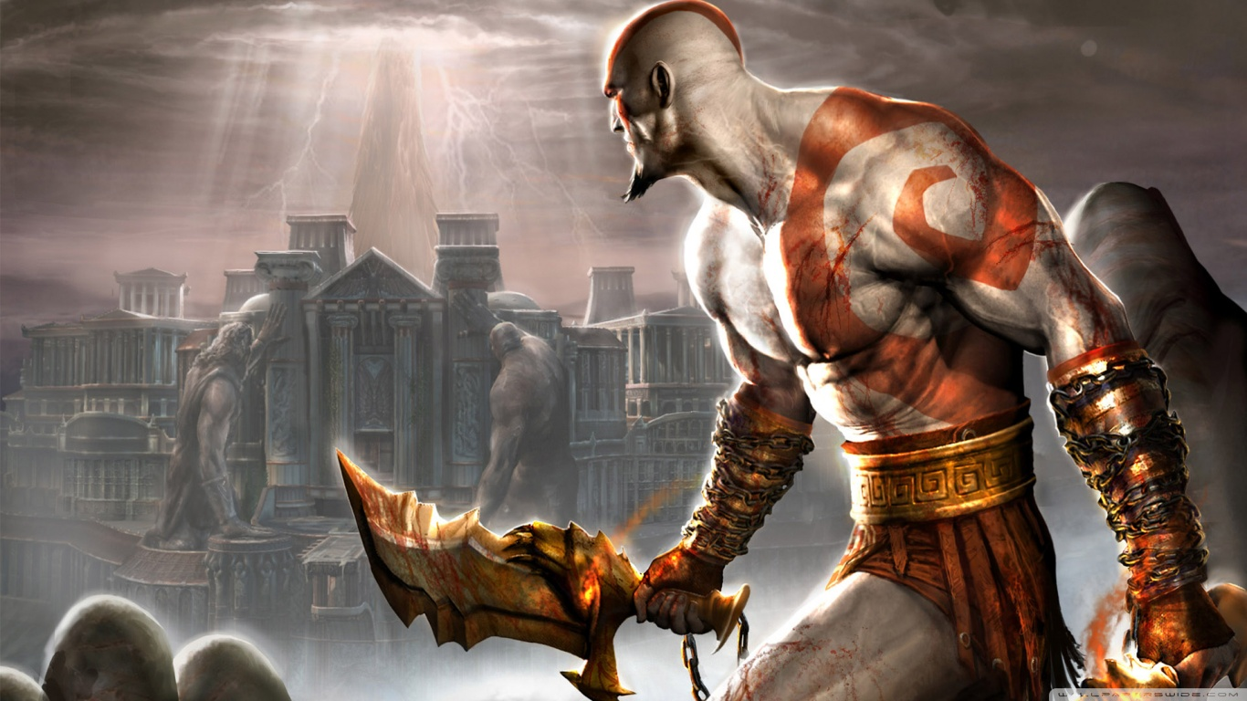 God of war ascension hd wallpapers backgrounds wallpaper 1366x768 voltagebd Gallery