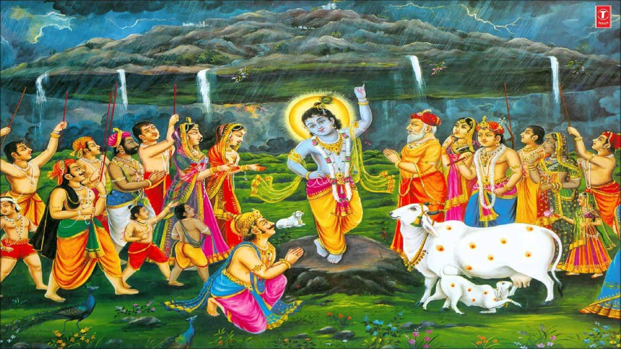 Happy Govardhan Wallpaper Group