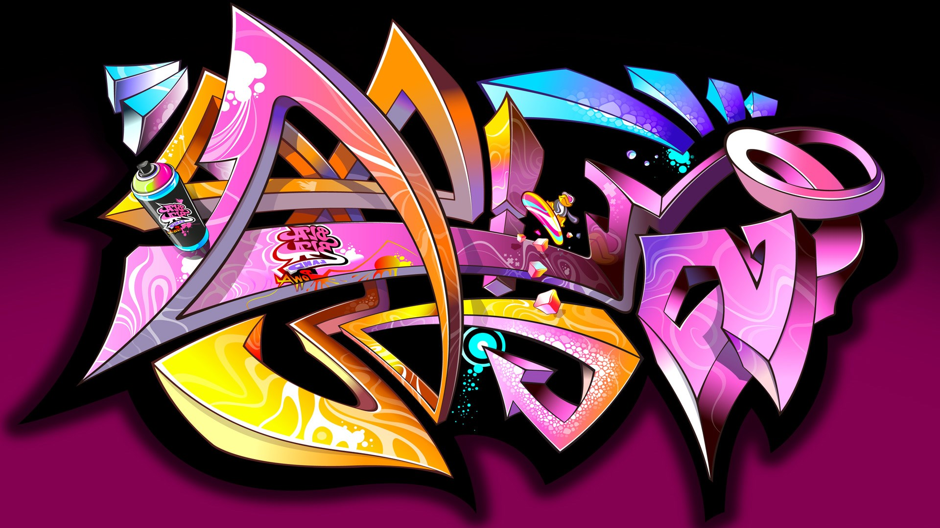 Graffiti basketball wallpaper