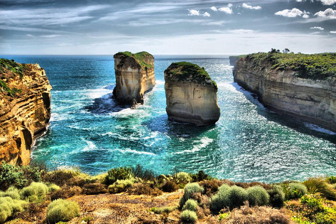The Great Ocean Road Beaches Nature Background Wallpapers on
