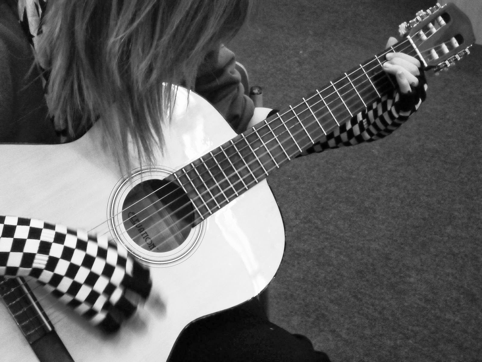 Black And White Guitar Wallpapers Group 1600x1200