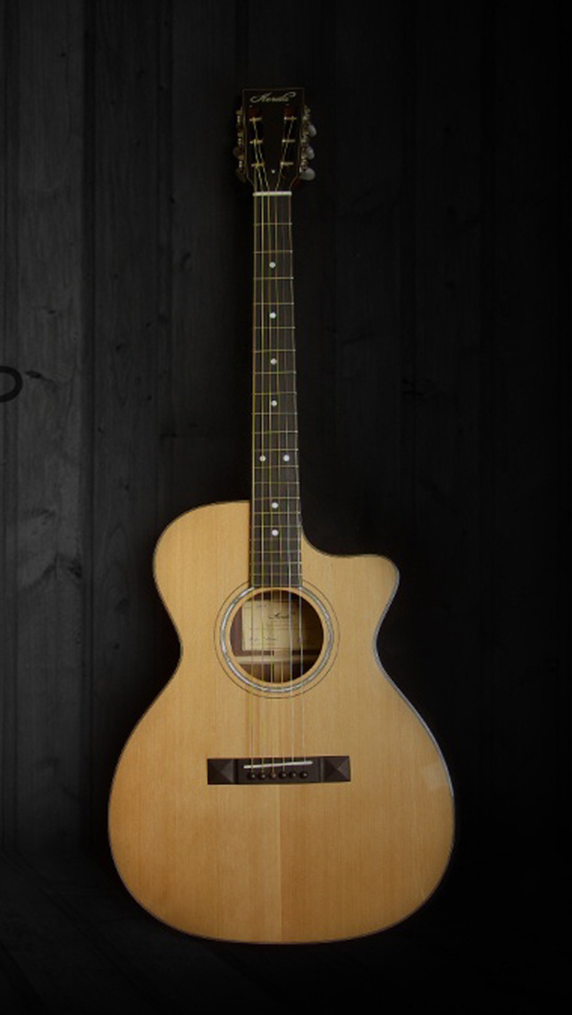 Acoustic Guitar Iphone Wallpaper 640x1136