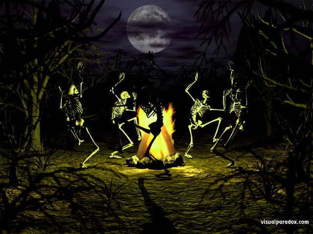 Free Halloween Animated Desktop Wallpaper 640x480