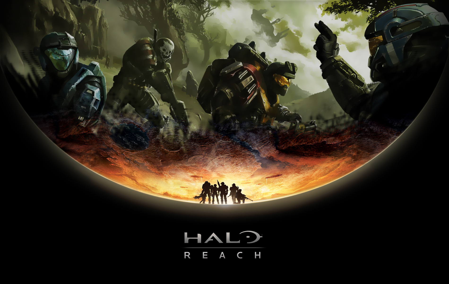Halo Reach HD Background Wallpapers Amazing Wallpaperz 1900x1200