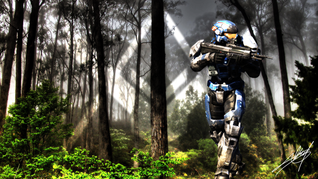 Halo Reach, Multiplayer Madness HD desktop wallpaper : Widescreen 1024x576