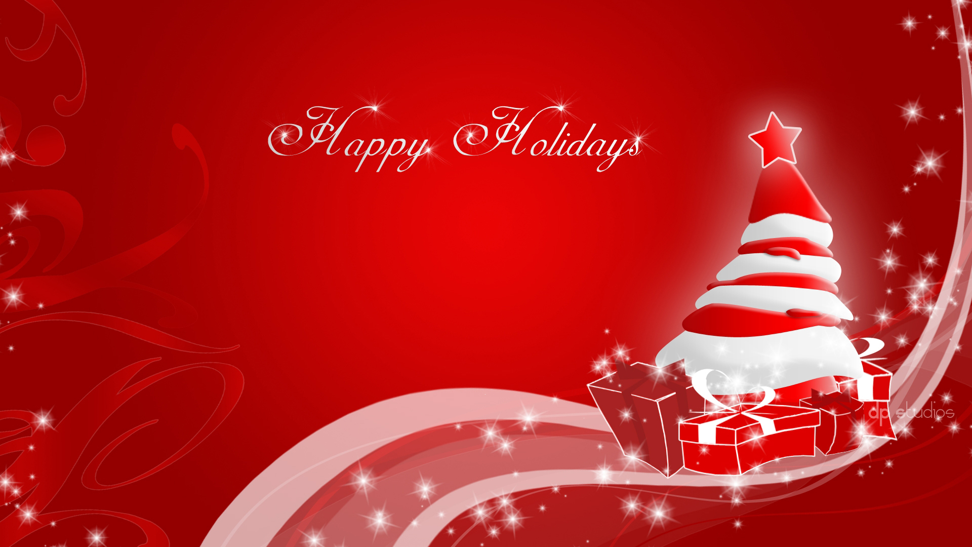 Happy Holidays Wide Screen Wallpaper 1920x1080