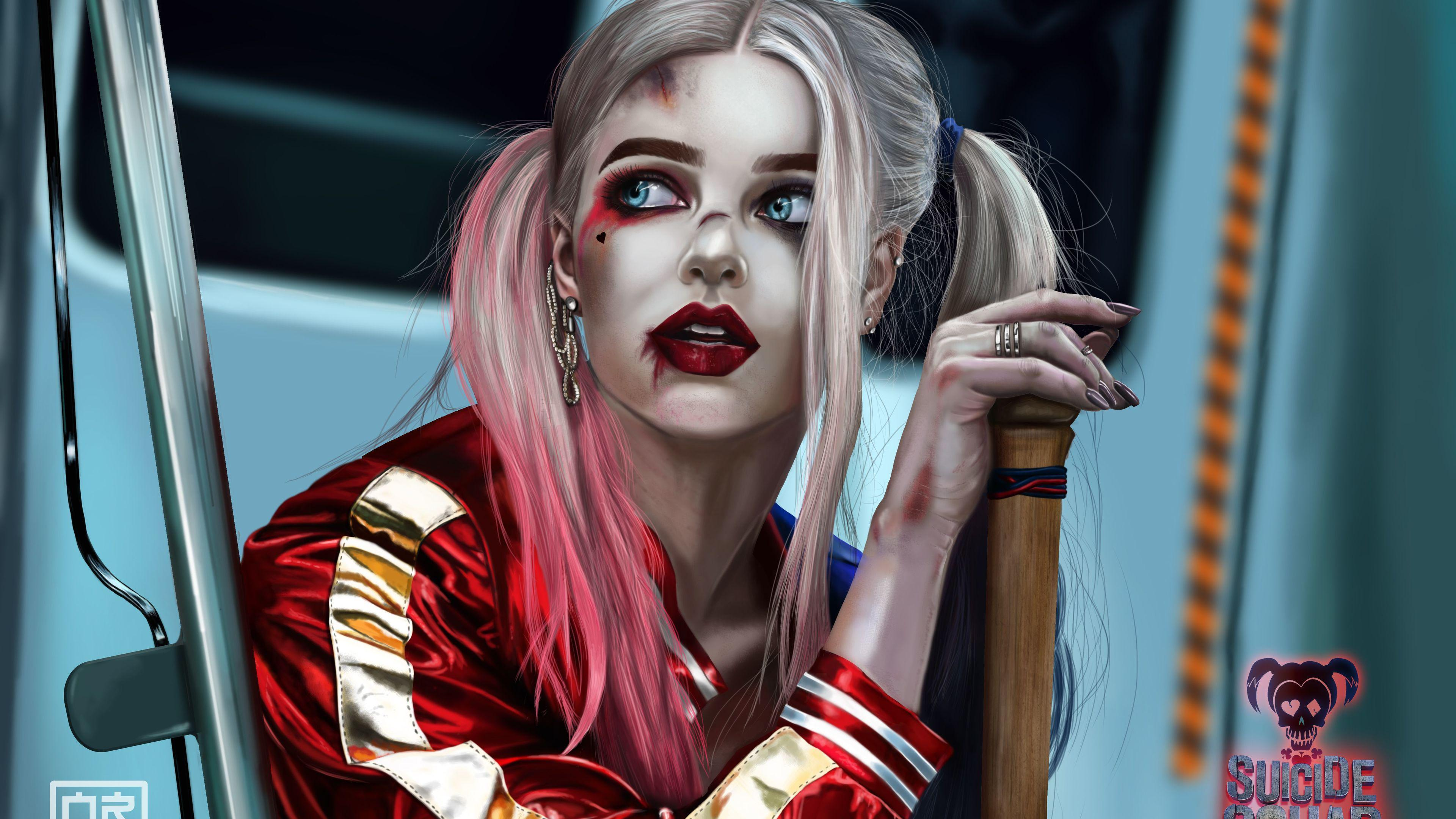 Wallpaper Suicide Squad Harley Quinn Margot Robbie Will