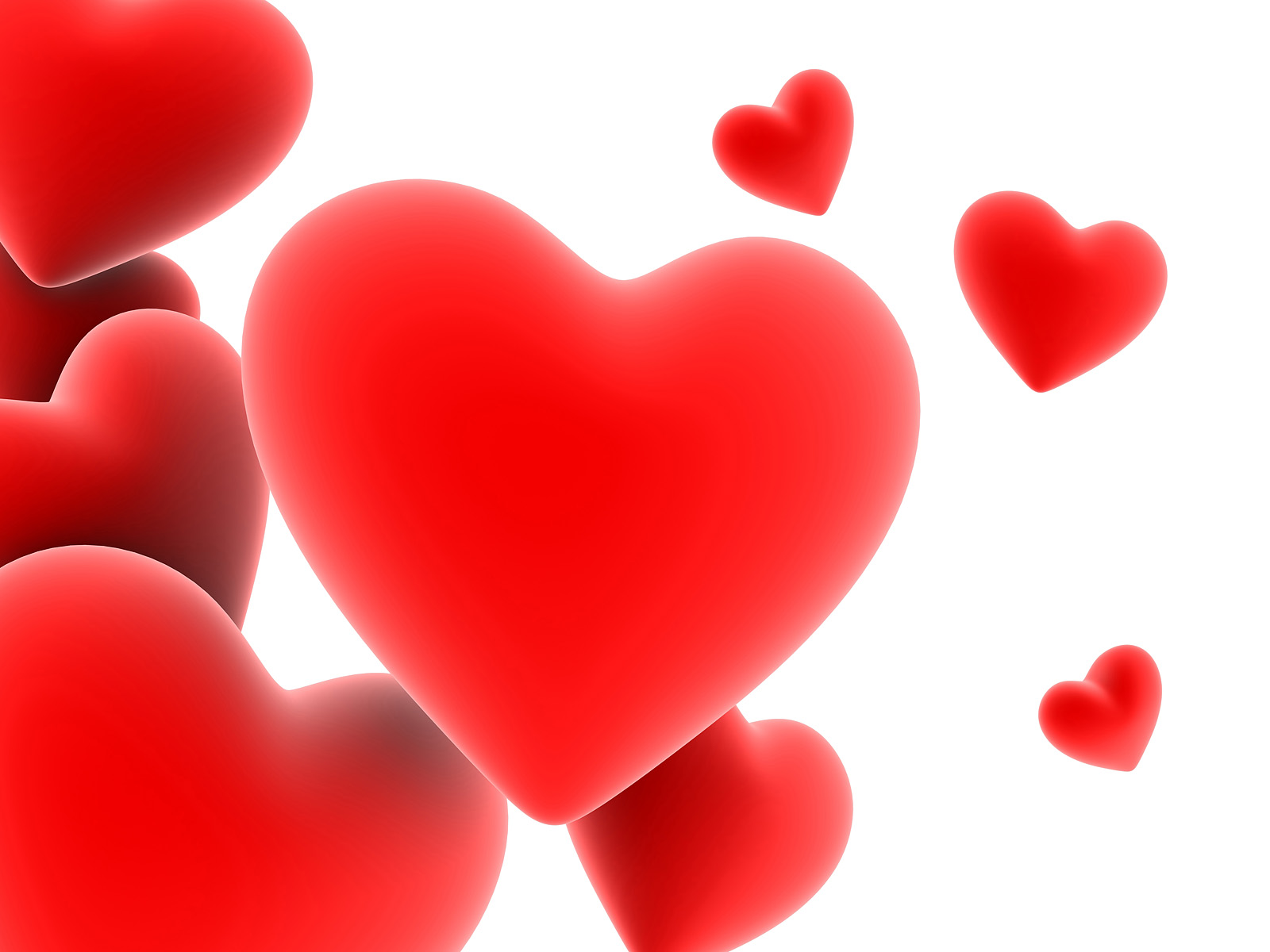 Lovely Red Heart Attractive Wallpapers Download 1600x1200