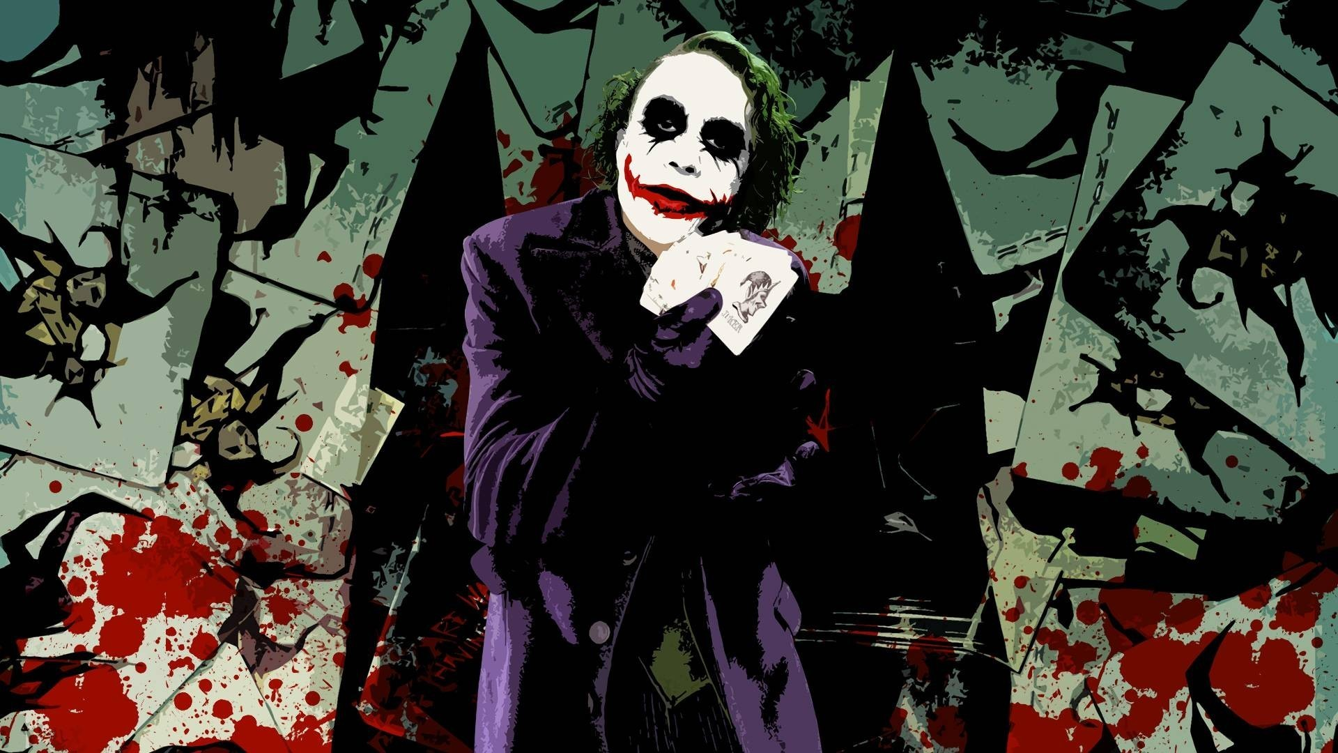 Hd Wallpapers Phone Wallpaper Heath Ledger Joker Dark Knight Movie 1920x1080