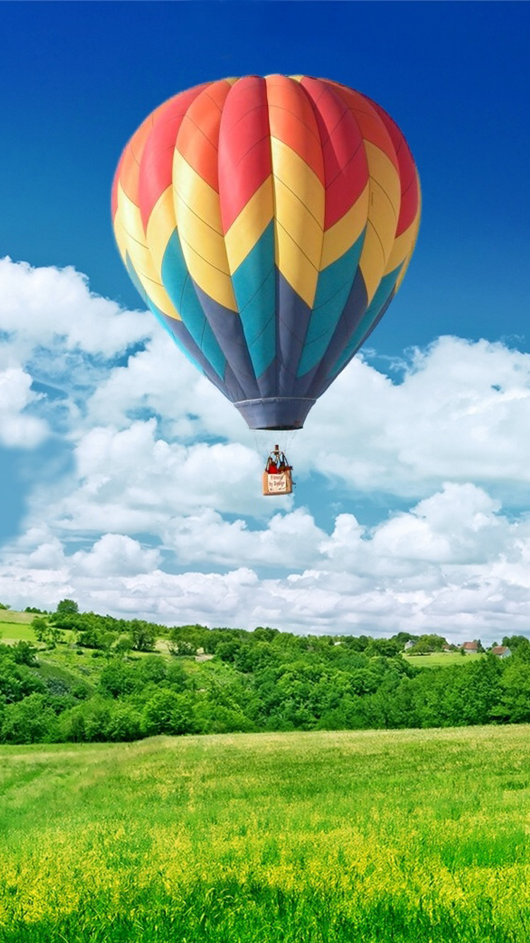 Hot Air Balloon Sunset wallpaper  wallpaper free download 750x1334