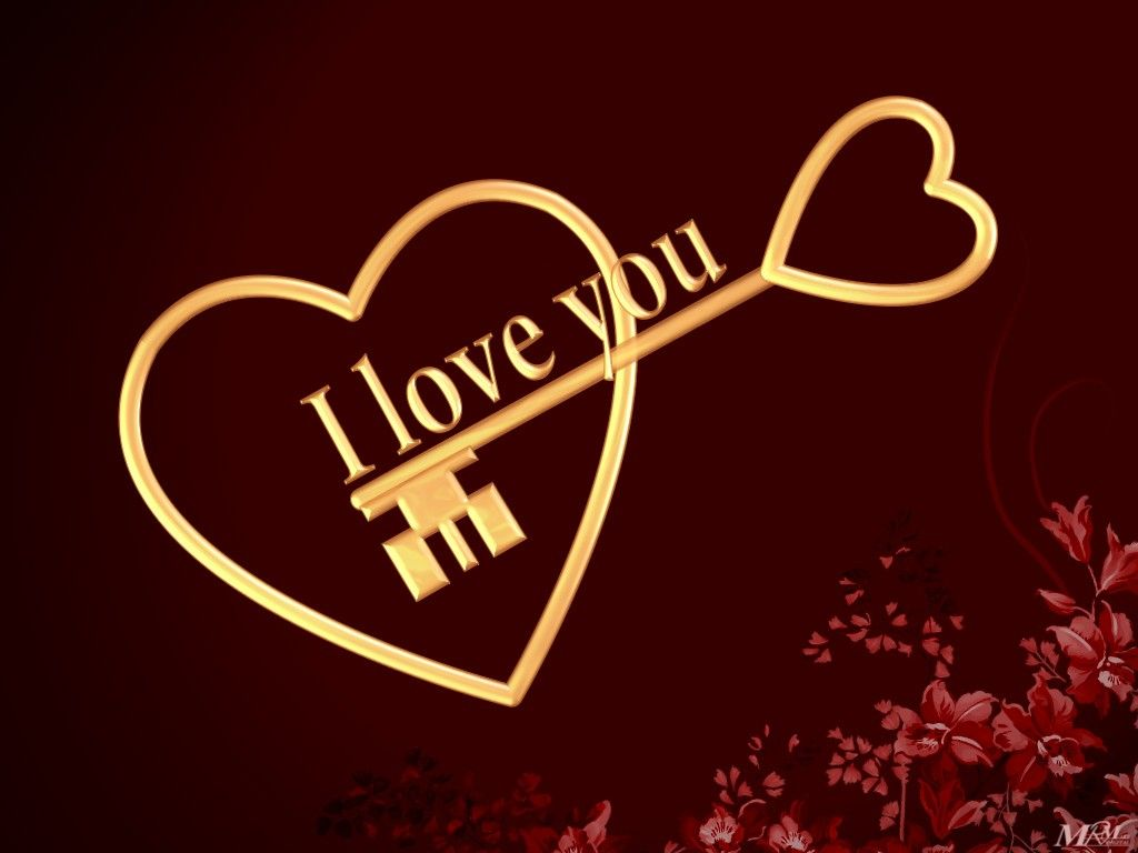 Free HD I Love You Wallpapers Cute I Love You Images 1024x768