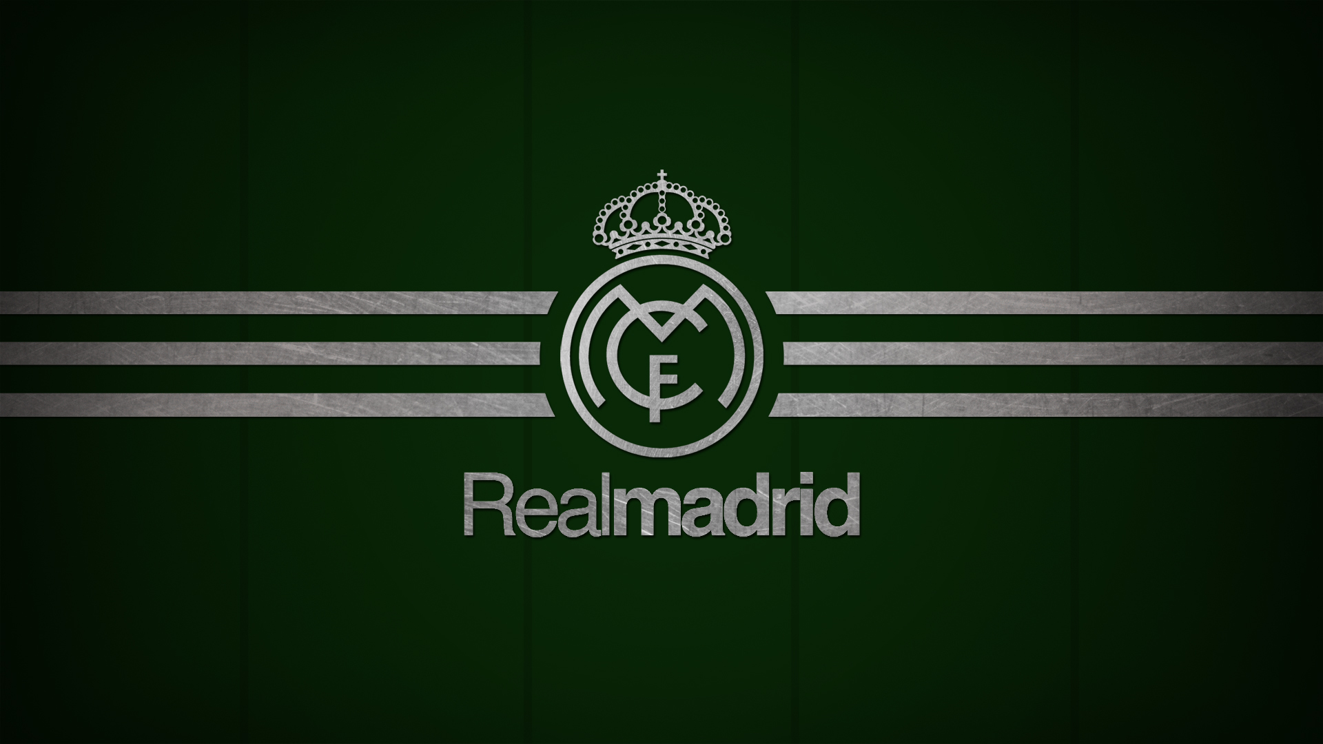 Real madrid logo blue background wallpaper wallpapersbyte 1920x1080 voltagebd Images