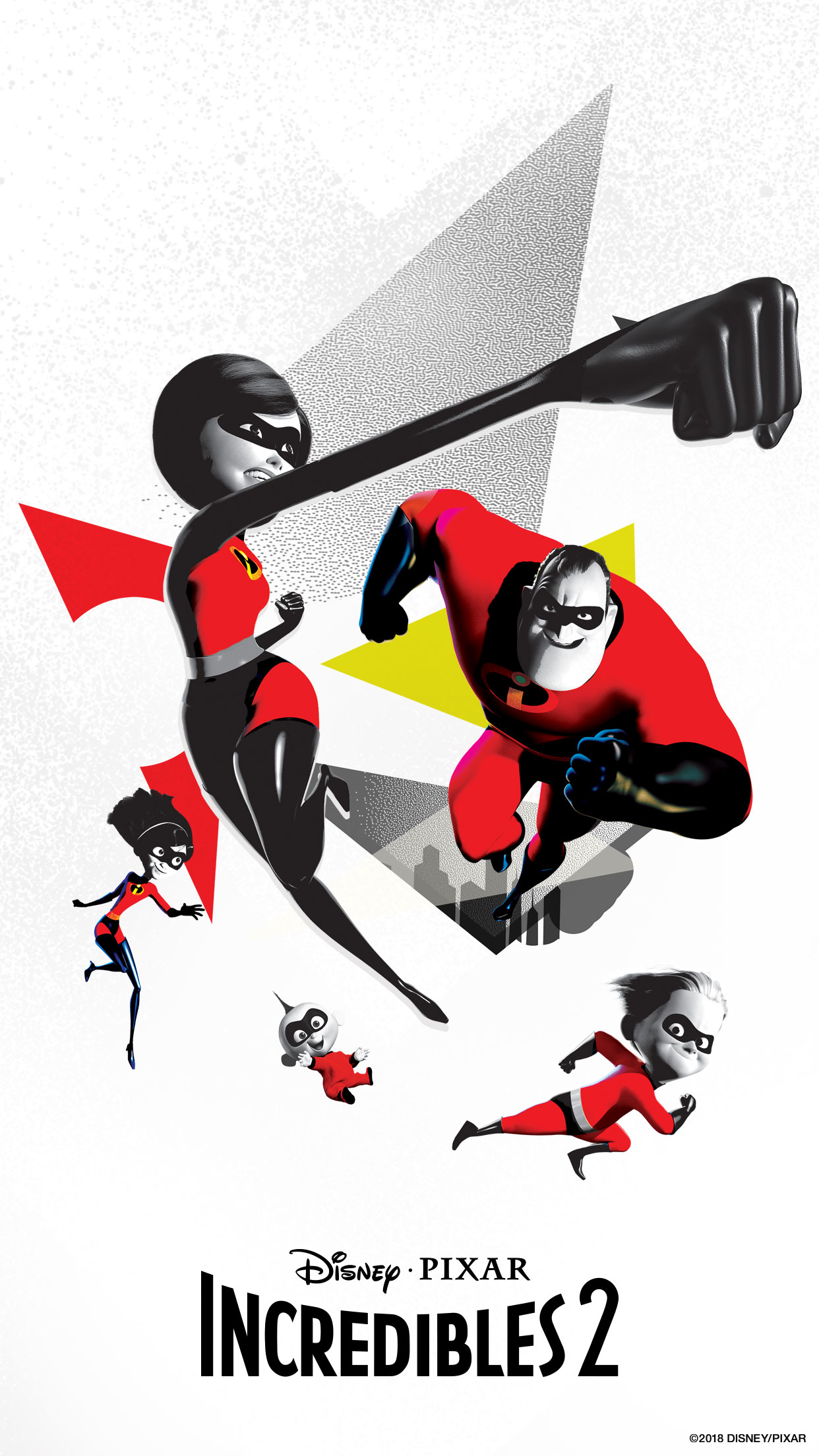 The Incredibles Cartoon Widescreen Wallpaper Image for Phone