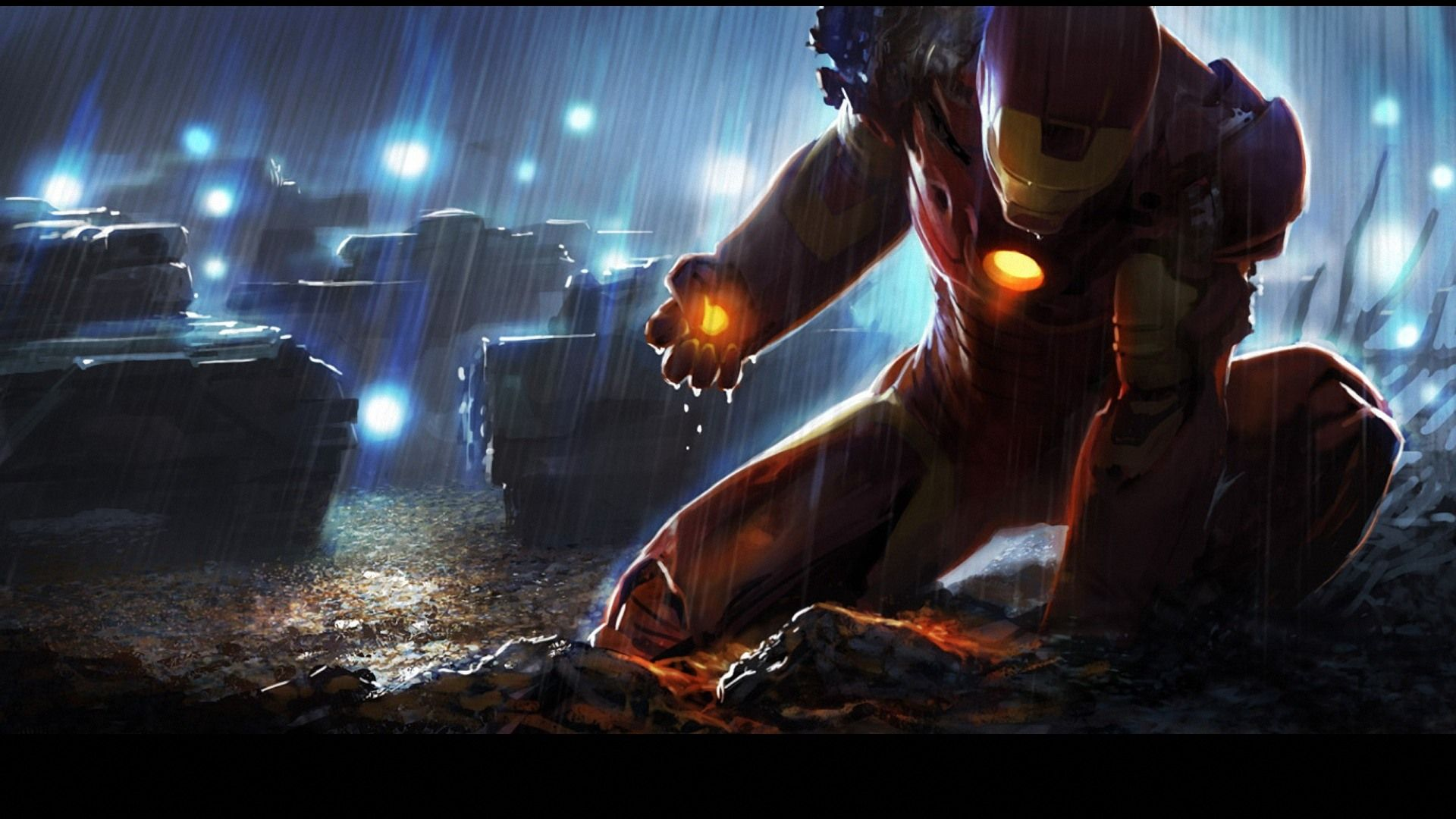 Iron Man Art Hd Desktop Wallpapers Free Desktop Wallpaper 1920x1080