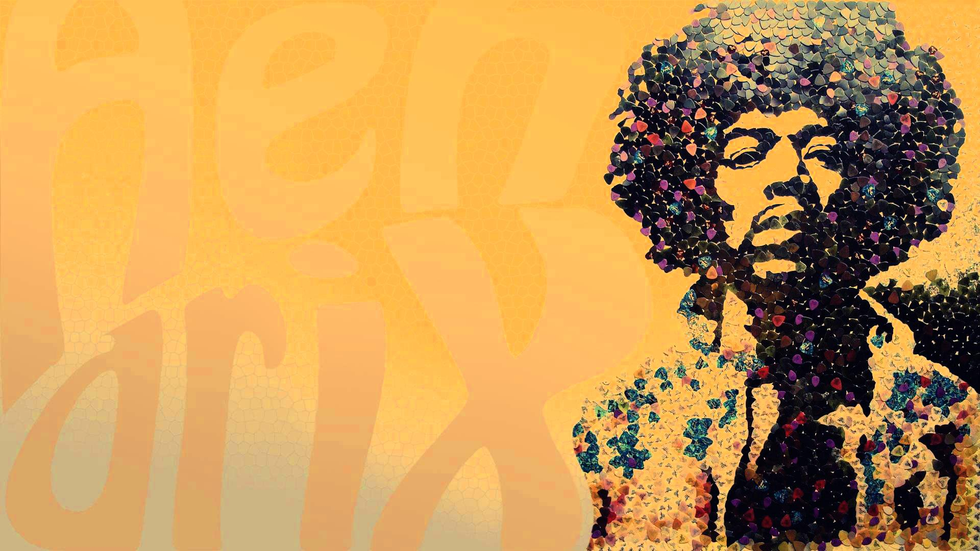 Clipart  Jimi Hendrix Portrait With Original Background 1920x1080