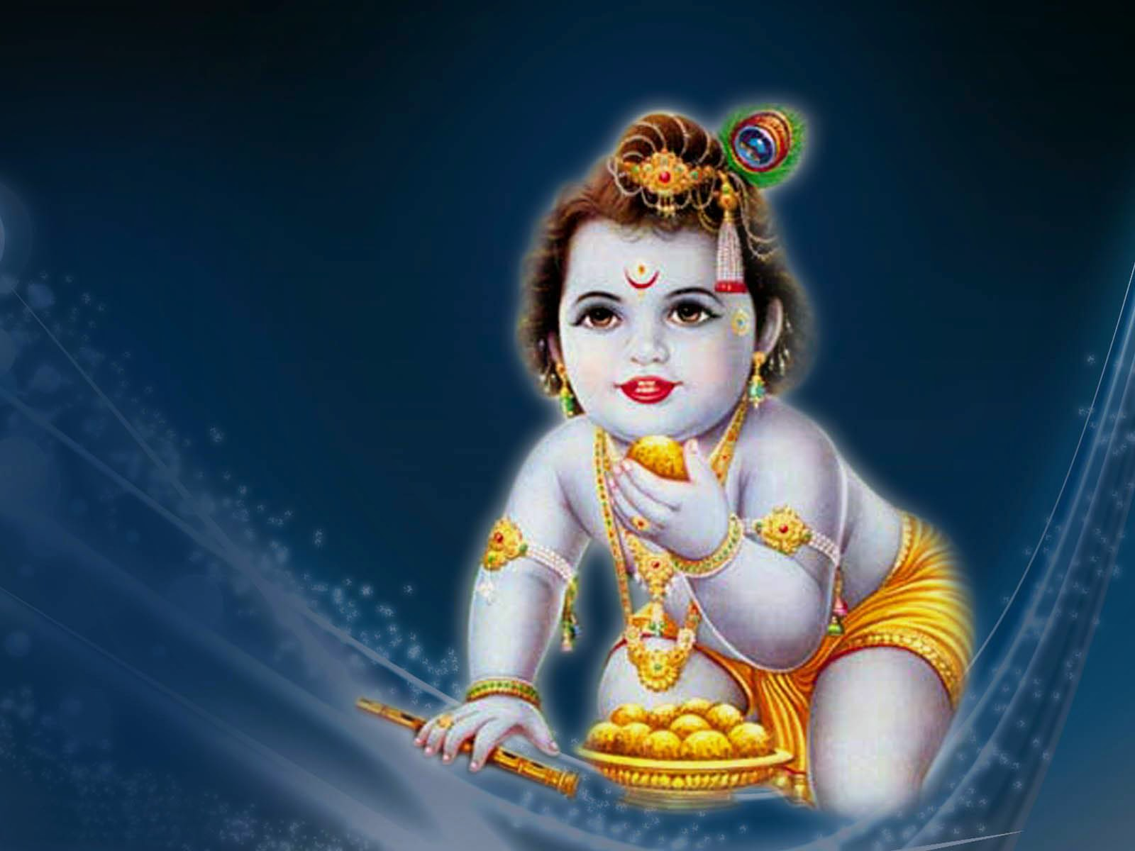 Lord Krishna Wallpapers Cute Bal Gopal Hd Images Backgrounds 1600x1200