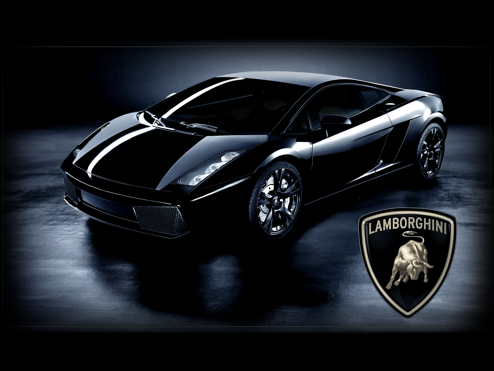 Lamborghini Gallardo Black HD Desktop Wallpaper Widescreen 1600x1200