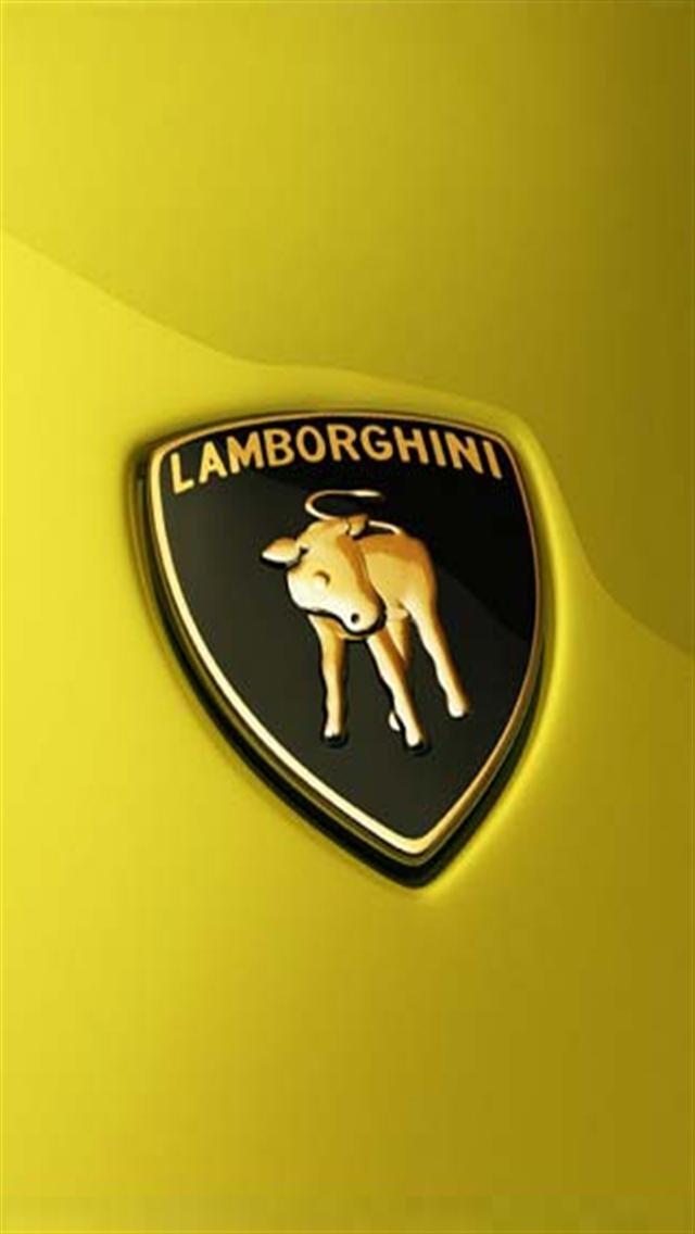 Lamborghini Logo Black Background Android Wallpaper Free Download 640x1136