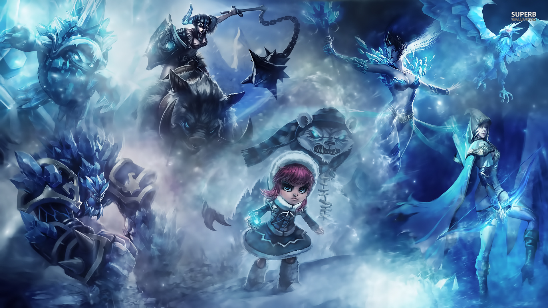 Broken Screen League of Legends Wallpaper Full HD 1920x1080
