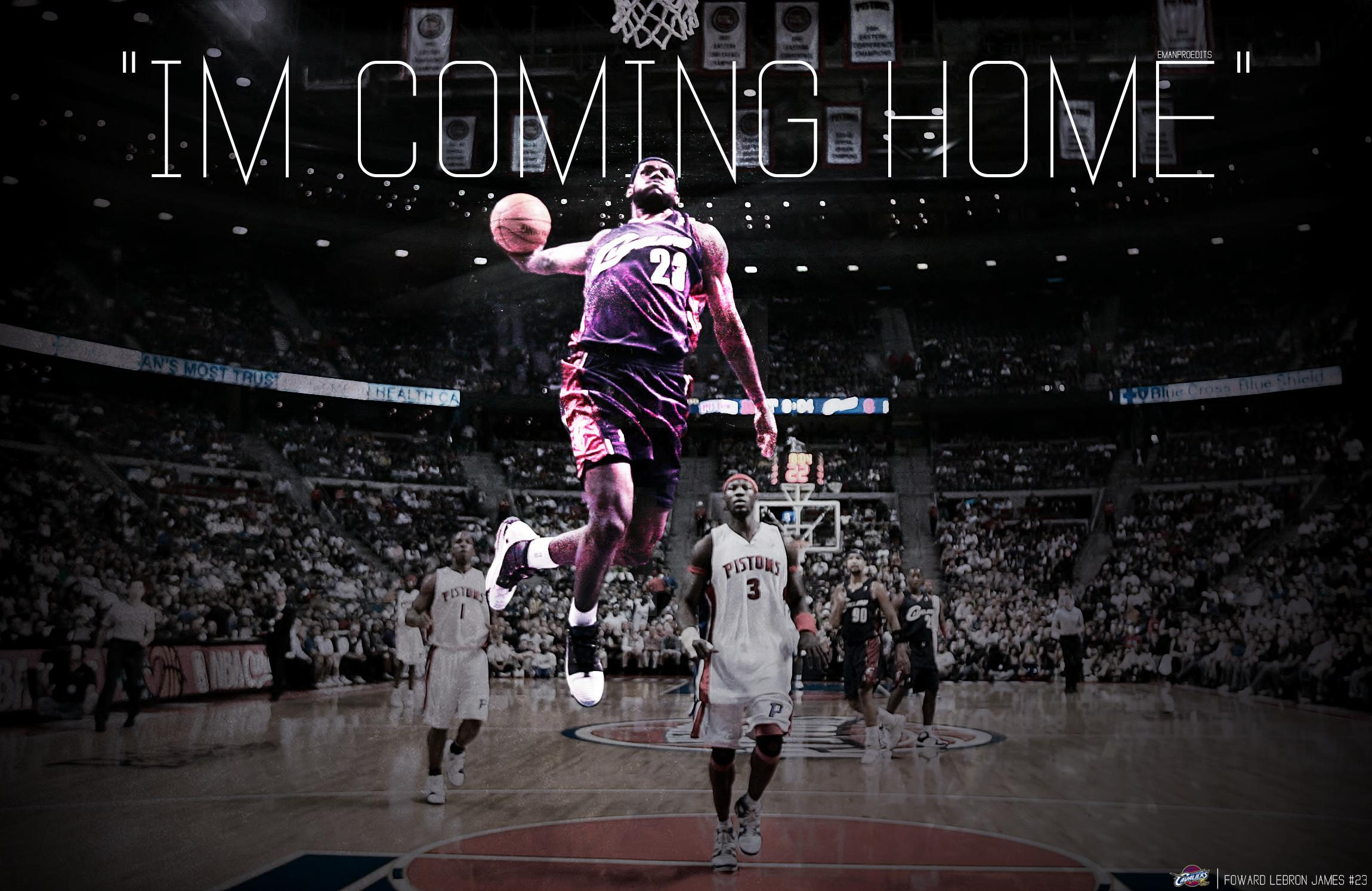 LeBron James Cleveland Cavaliers Mobile Wallpaper 2300x1494