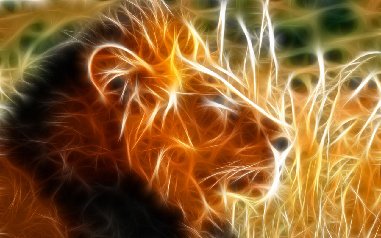 Zodiac Leo Fantasy Abstract Background Wallpapers On Desktop 1280x800