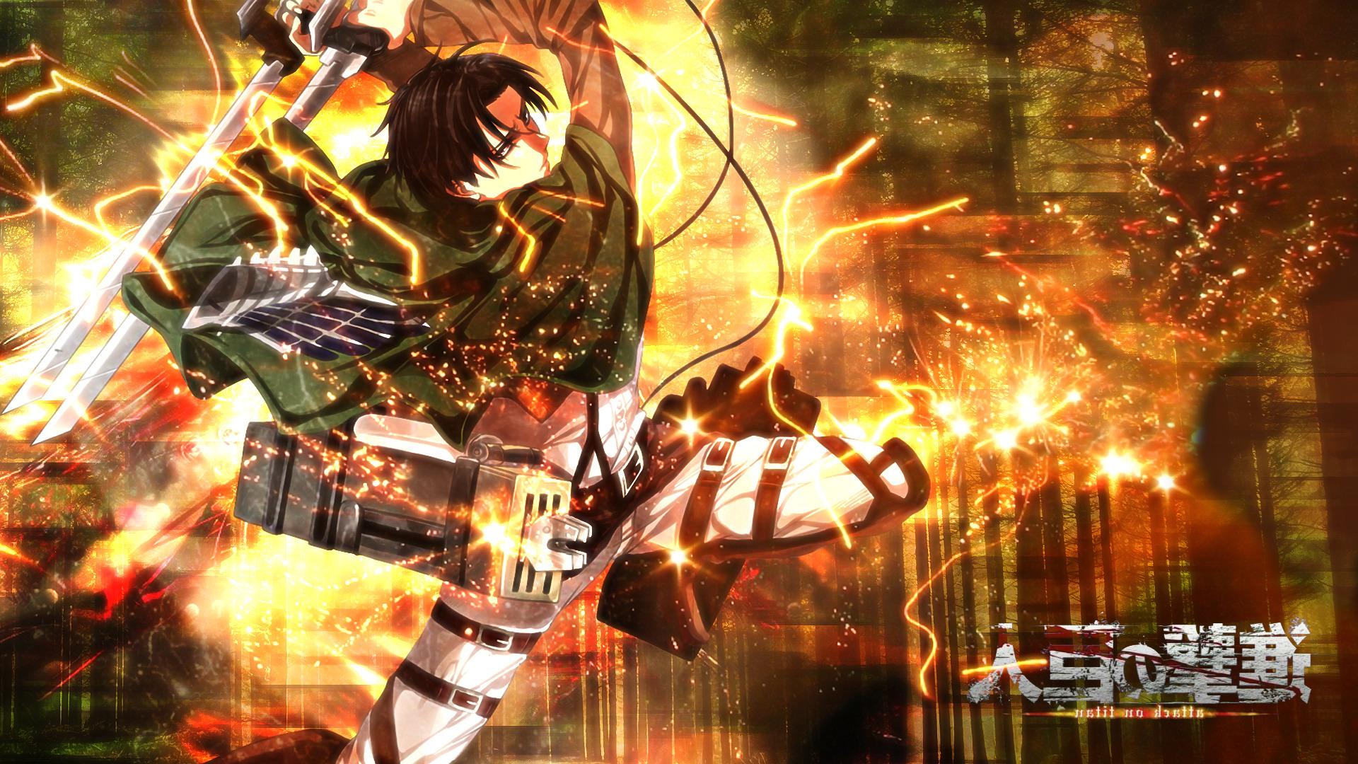 shingeki no kyojin levi ackerman anime wallpaper and