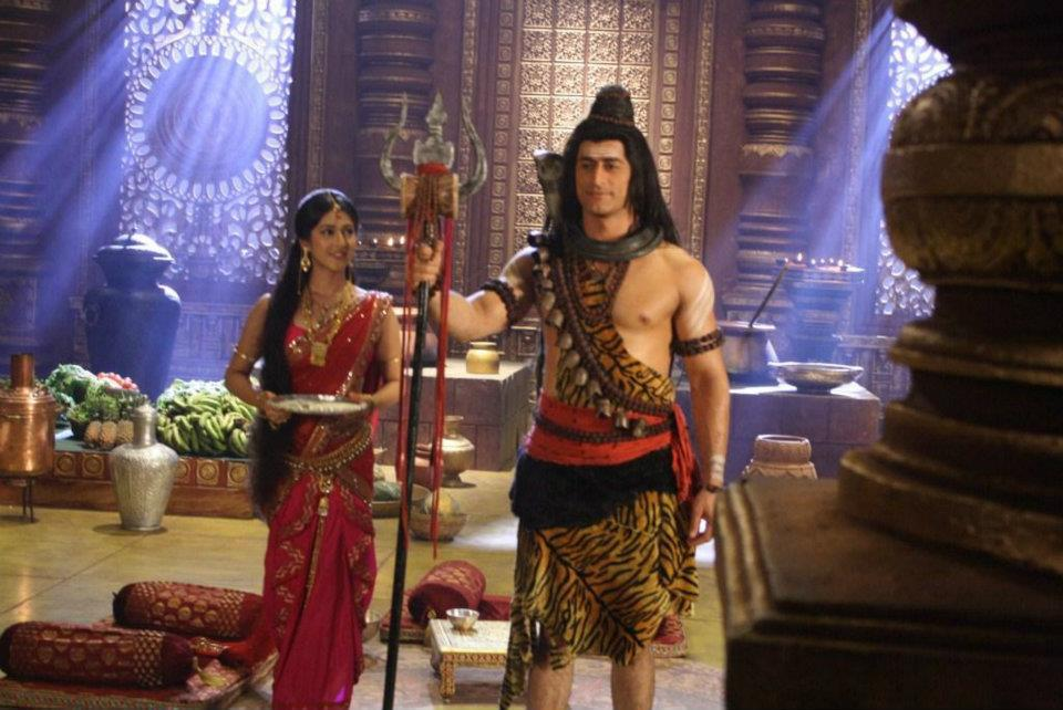 Lord Shiva and Parvati in Devon Ke Dev Mahadev Hindi TV Serial