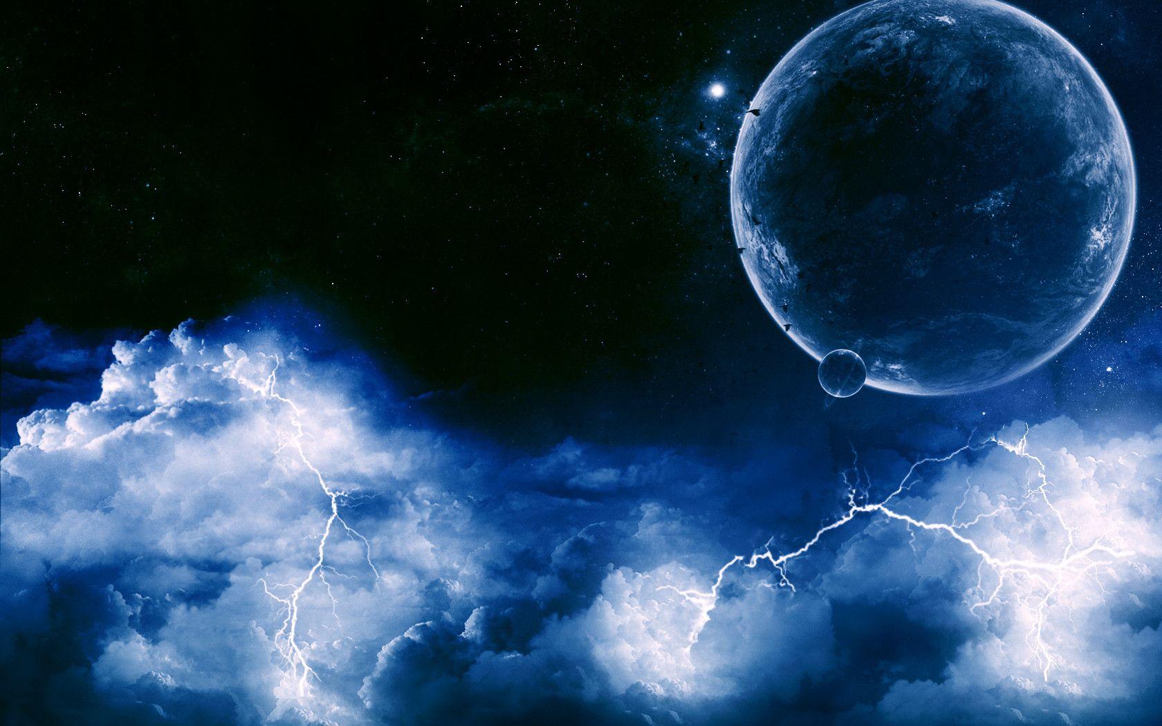 Lightning Storm HD Desktop Wallpaper Widescreen High 1680x1050