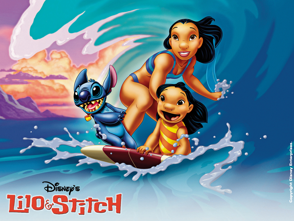 Lilo and Stitch  wallpaper Free Disneys Lilo and Stitch Wallpaper Stationary MySpace B 1024x768