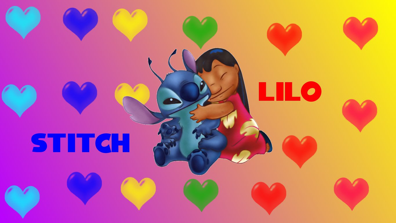 Lilo And Stitch Full HD Wallpaper For Android Cartoons Wallpapers 1366x768