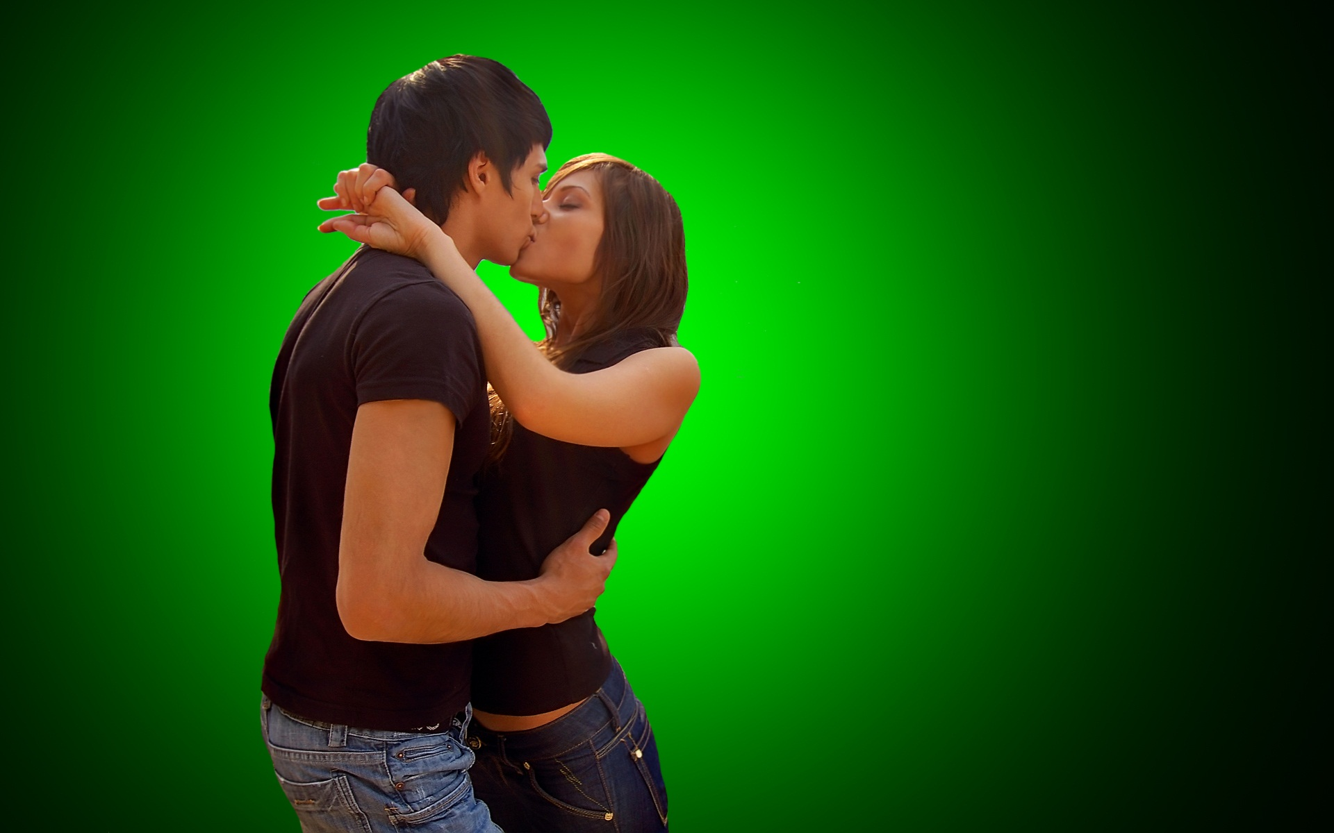 stylish hot couple kissing - photo #7
