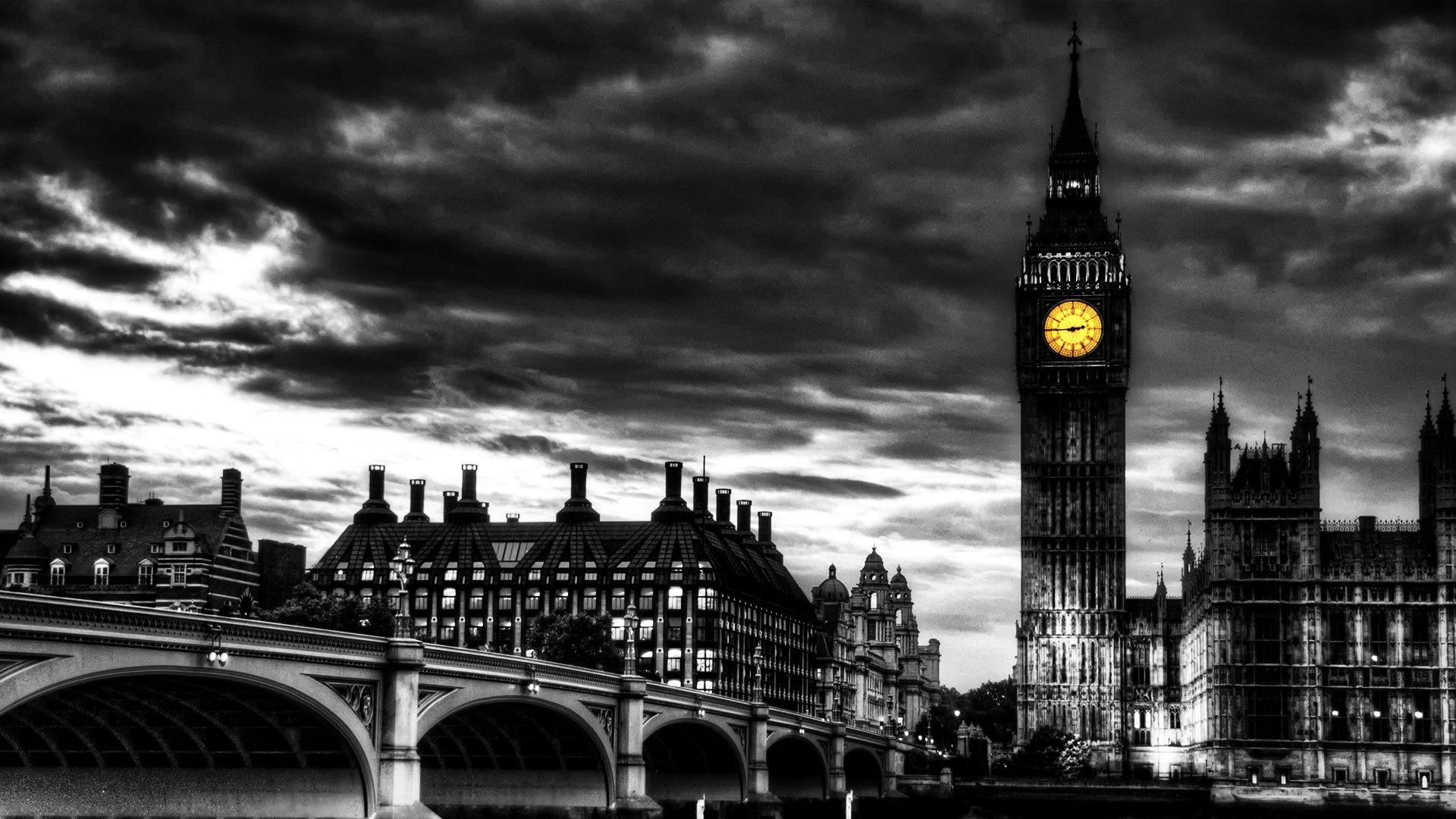 London black and white wallpapers desktop obaasima black for Black and white london mural wallpaper