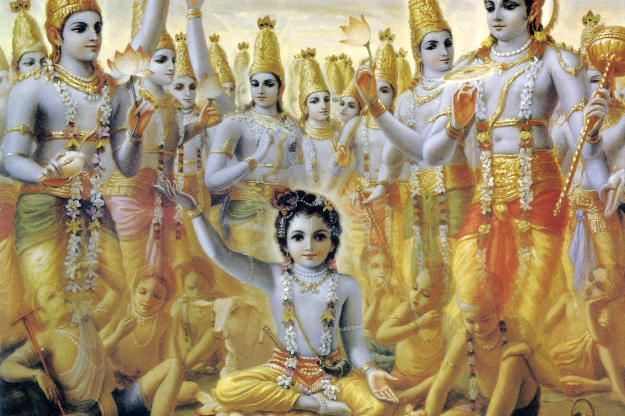 What is the Viraat Roop of Krishna in the Mahabharat