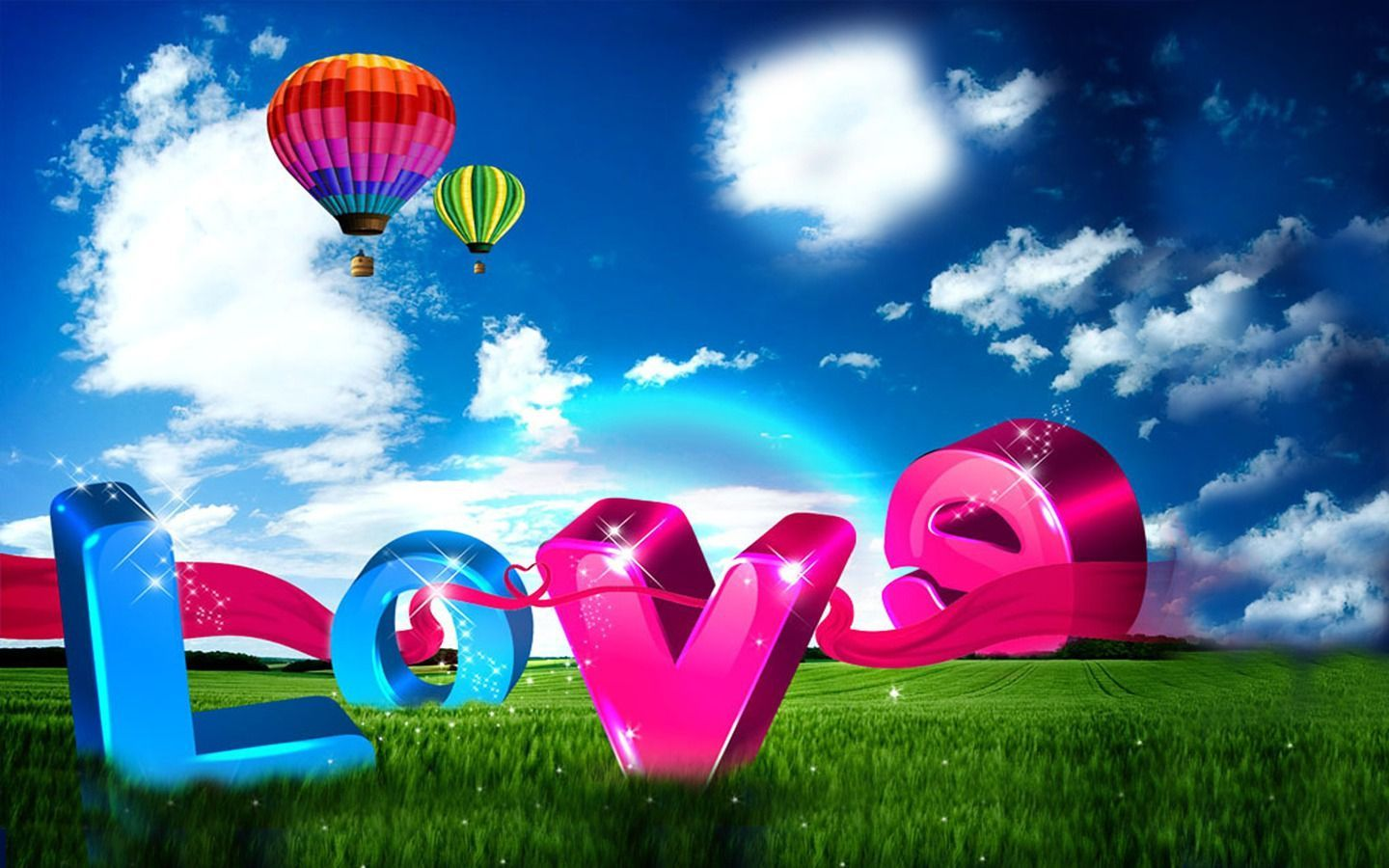 Love Word Red Ribbon Widescreen Wallpaper WideWallpapers The Free Download 1440x900
