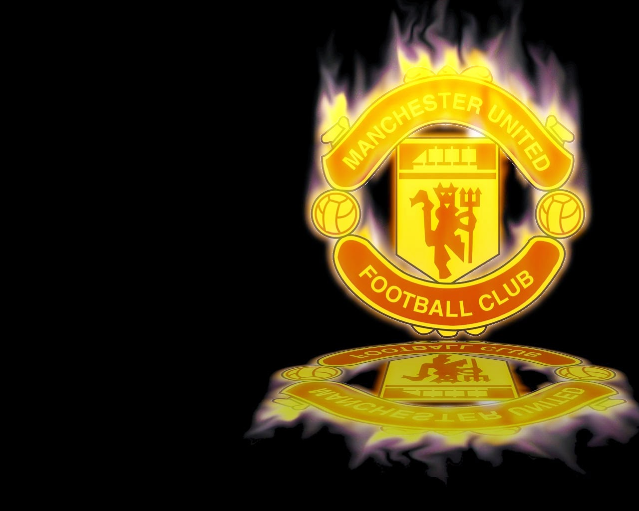Manchester united logo wallpapers hd wallpaper 1280x1024 voltagebd Choice Image