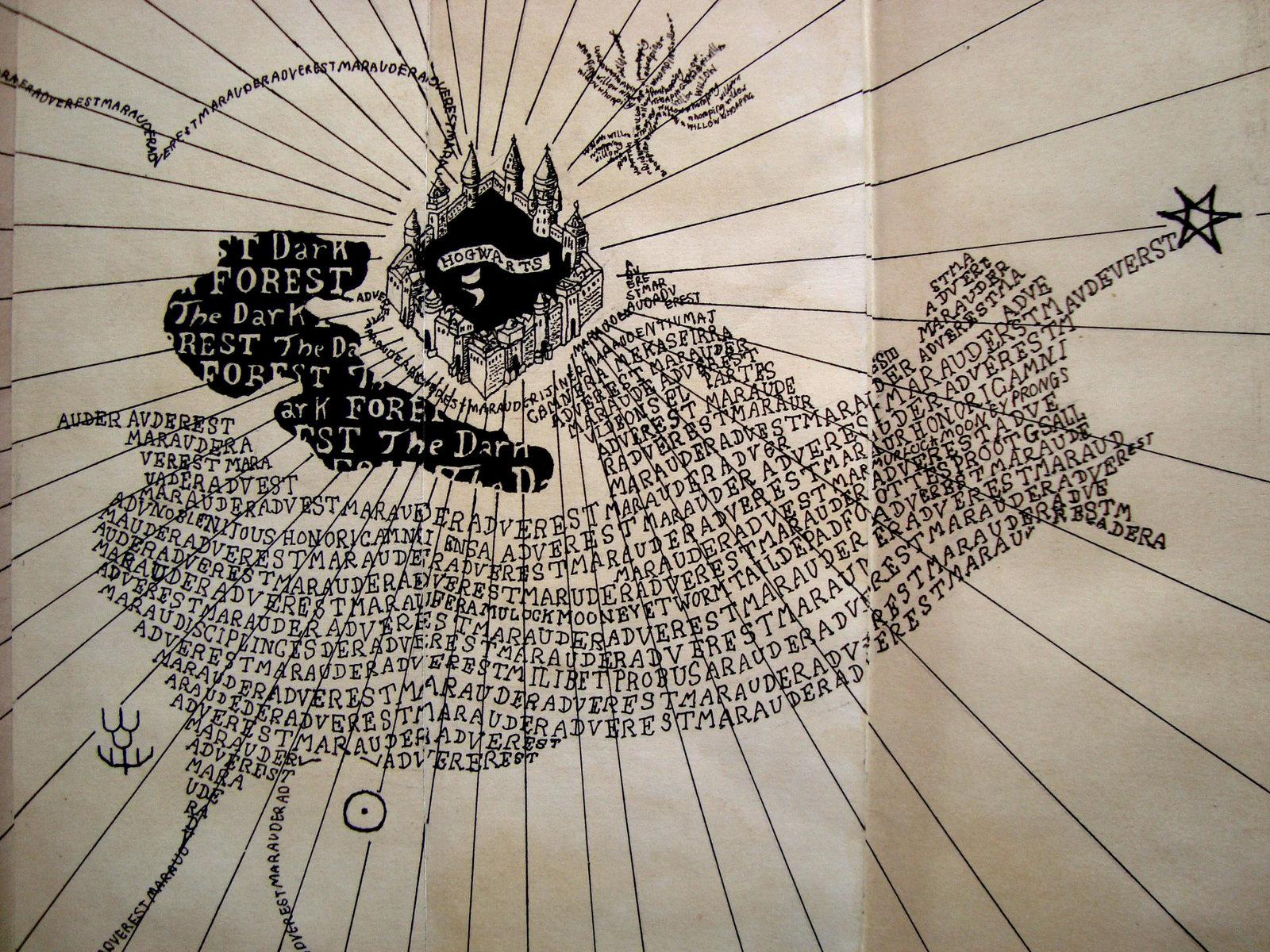 Harry Potters Marauders Map By Ilovechez On Deviantart 1600x1200