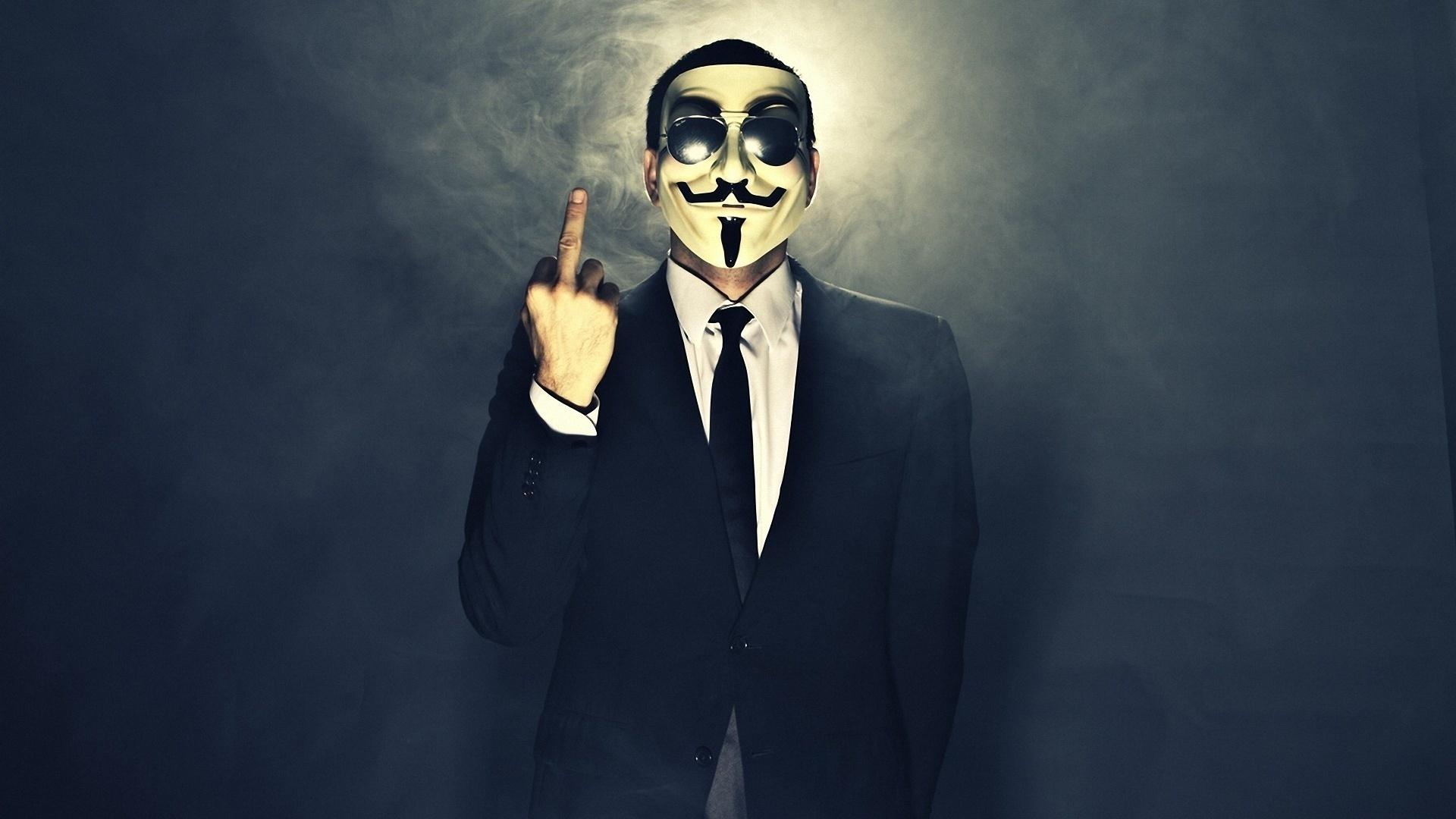 V For Vendetta Mask UHD Wallpaper On MobDecor Black WallpaperUP 1920x1080