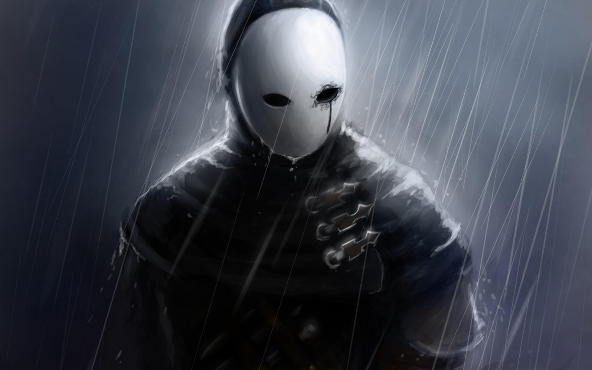Hd Background Anonymous Mask Hacker Group Machete Jacket Wallpaper 1920x1200